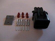 6-Way Male Injector Resistor Connector